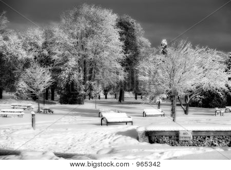 Winter Park And Dark Skies