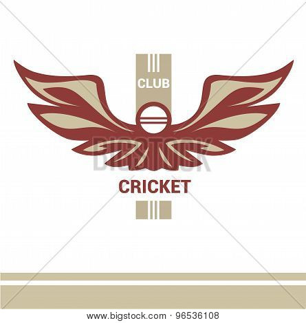 Vector logo template cricket club.
