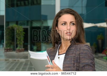 Business Woman Strongly Indignant