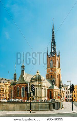 Building Of Riddarholm Kyrka Riddarholm Church In Stockholm, Sweden
