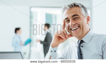 Confident Corporate Businessman Portrait
