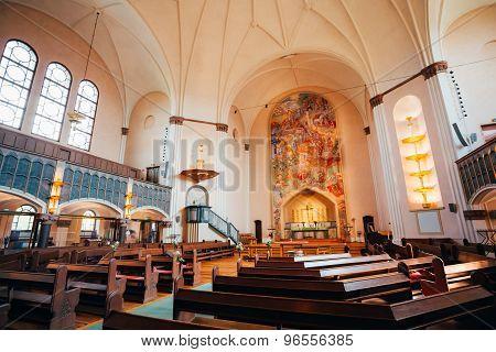 Interior Of Sofia Kyrka Sofia Church In Stockholm, Sweden