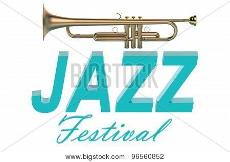 Jazz Festival concept isolated on white background poster