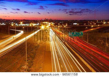 Highway Leading Into Kansas City, Missouri