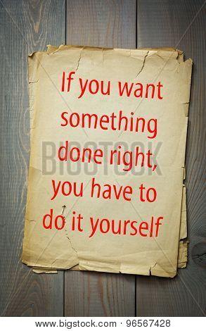 English proverb: