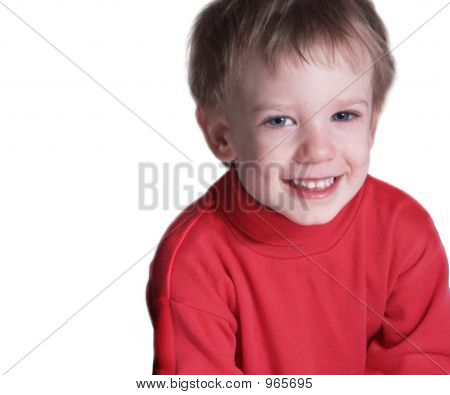 isolated boy with smiling expresion and copyspace poster