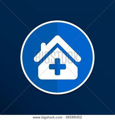 Medical hospital sign icon. Home medicine symbol.