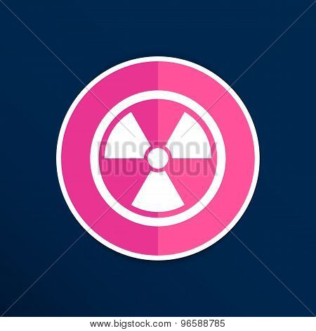 sign radiation vector icon caution nuclear atom power. poster