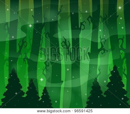 Mysterious forest theme image 8 - eps10 vector illustration.