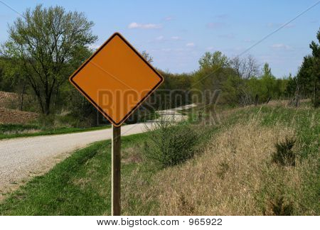 Rural Road Sign - Blank