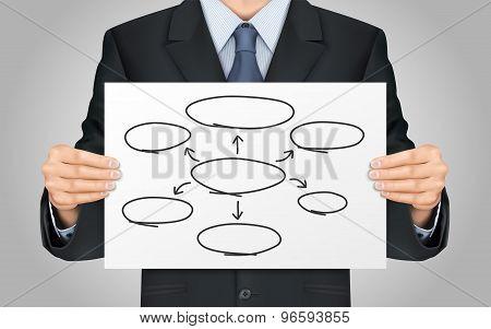 Businessman Holding Empty Diagram
