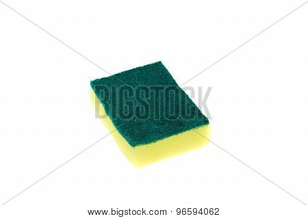 Sponges For Dishwashing Isolated