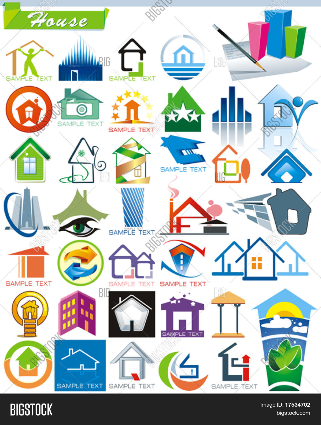 Charming COLLECTION_5 Exclusive Series Of House Vector Icons For Web And  Construction Or Real Estate Concept With