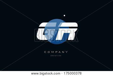 Gr G R  Blue White Circle Big Font Alphabet Company Letter Logo
