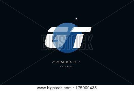 Gt G T  Blue White Circle Big Font Alphabet Company Letter Logo