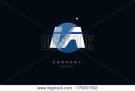 Ia I A  Blue White Circle Big Font Alphabet Company Letter Logo