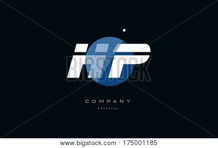 Hp H P  Blue White Circle Big Font Alphabet Company Letter Logo