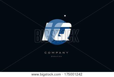 Iq I Q  Blue White Circle Big Font Alphabet Company Letter Logo