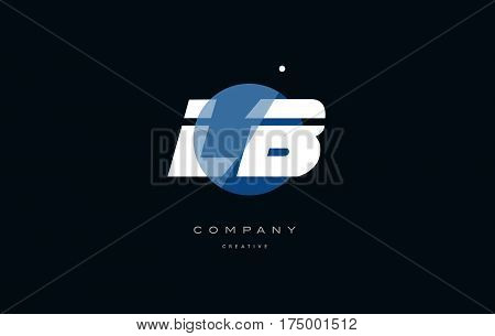 Lb L B  Blue White Circle Big Font Alphabet Company Letter Logo