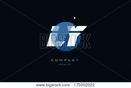 Ly L Y  Blue White Circle Big Font Alphabet Company Letter Logo