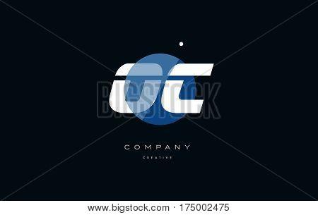 Oc O C  Blue White Circle Big Font Alphabet Company Letter Logo