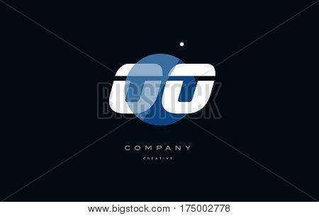 Oo O  Blue White Circle Big Font Alphabet Company Letter Logo