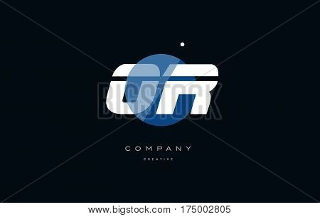 Or O R  Blue White Circle Big Font Alphabet Company Letter Logo