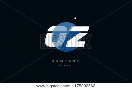 Oz O Z  Blue White Circle Big Font Alphabet Company Letter Logo