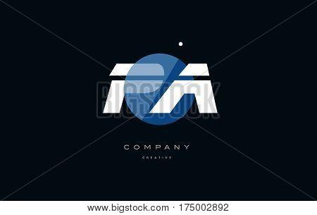 Pa P A  Blue White Circle Big Font Alphabet Company Letter Logo