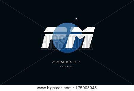 Pm P L  Blue White Circle Big Font Alphabet Company Letter Logo