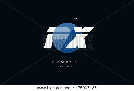 Px P X  Blue White Circle Big Font Alphabet Company Letter Logo