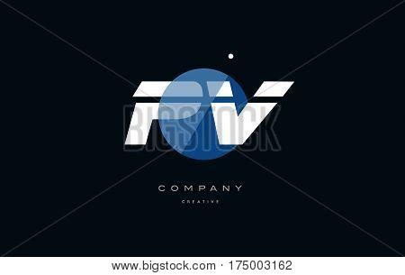 Pv P V  Blue White Circle Big Font Alphabet Company Letter Logo