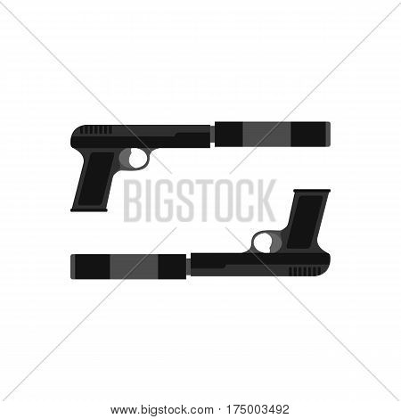 Gun icon isolated on white background vector illustration