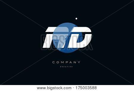 Rd R D  Blue White Circle Big Font Alphabet Company Letter Logo