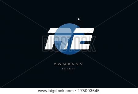 Re R E  Blue White Circle Big Font Alphabet Company Letter Logo