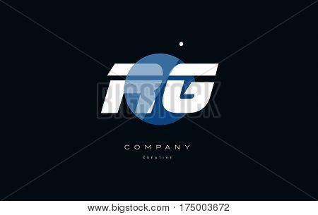 Rg R G  Blue White Circle Big Font Alphabet Company Letter Logo