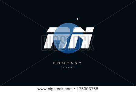 Rn R N  Blue White Circle Big Font Alphabet Company Letter Logo