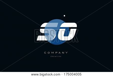 So S O  Blue White Circle Big Font Alphabet Company Letter Logo