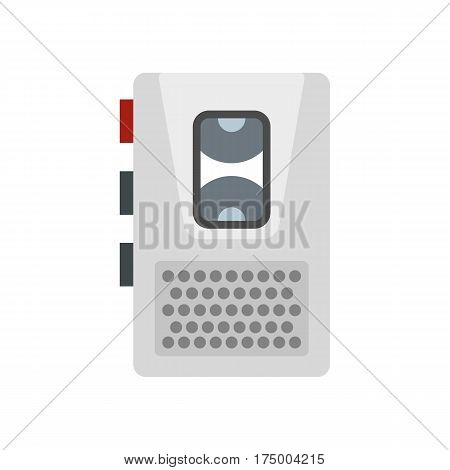 Dictaphone icon isolated on white background vector illustration