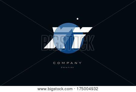 Xy X Y  Blue White Circle Big Font Alphabet Company Letter Logo