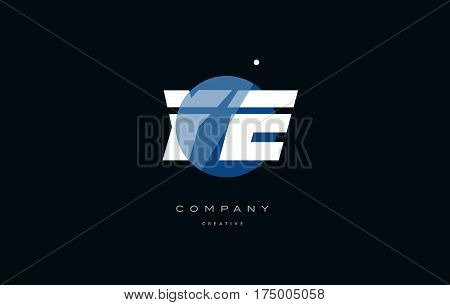 Ye Y E  Blue White Circle Big Font Alphabet Company Letter Logo