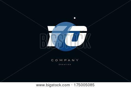 Yo Y O  Blue White Circle Big Font Alphabet Company Letter Logo