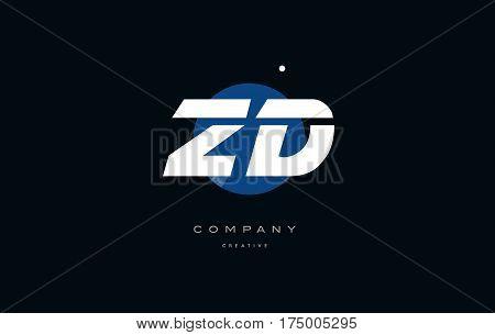 Yt Y T  Blue White Circle Big Font Alphabet Company Letter Logo