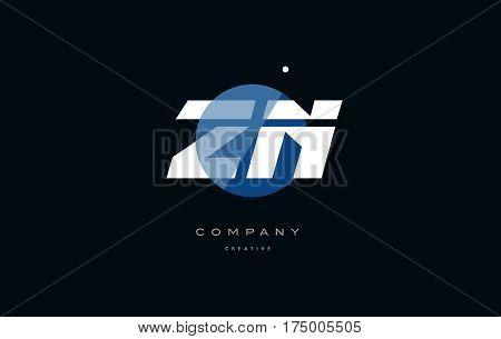 Zn Z N  Blue White Circle Big Font Alphabet Company Letter Logo