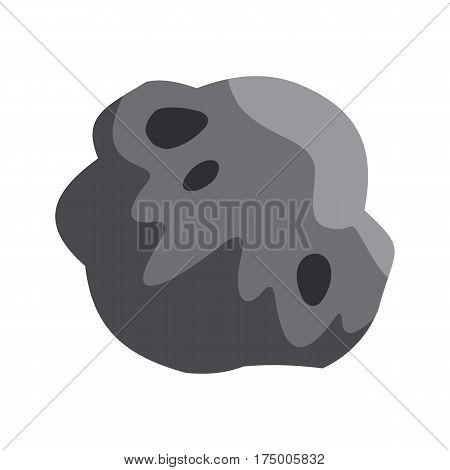 Asteroid icon isolated on white background vector illustration
