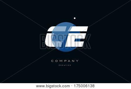 Ce C E  Blue White Circle Big Font Alphabet Company Letter Logo