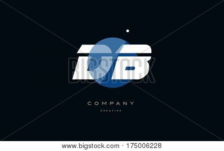 Db D B  Blue White Circle Big Font Alphabet Company Letter Logo
