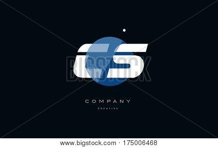 Cs C S  Blue White Circle Big Font Alphabet Company Letter Logo