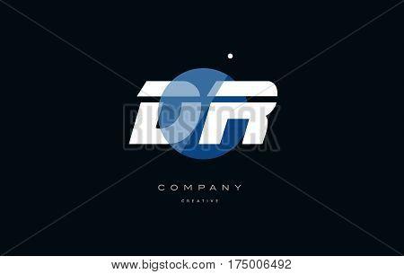 Dr D R  Blue White Circle Big Font Alphabet Company Letter Logo