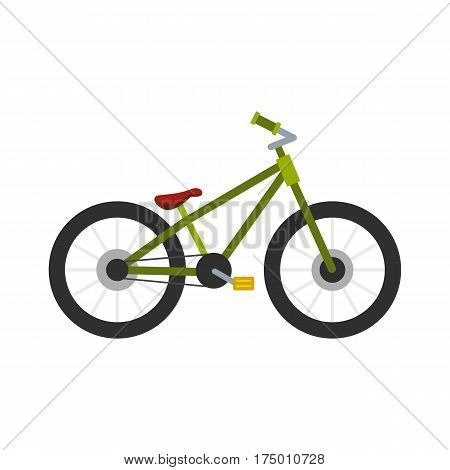 Green bike icon isolated on white background vector illustration